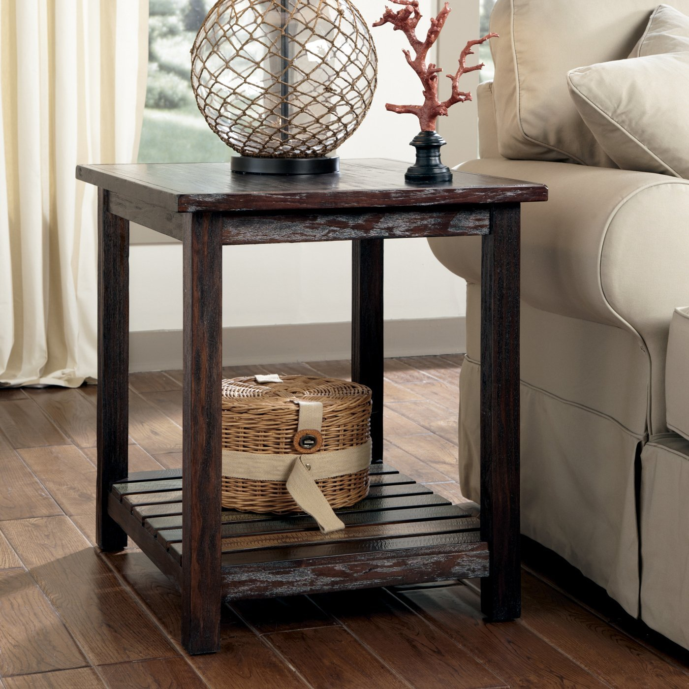mestler chairside end table project rustic