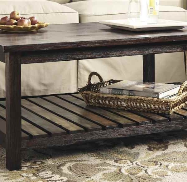 Mestler Rectangular Cocktail Table, Rustic Brown_1